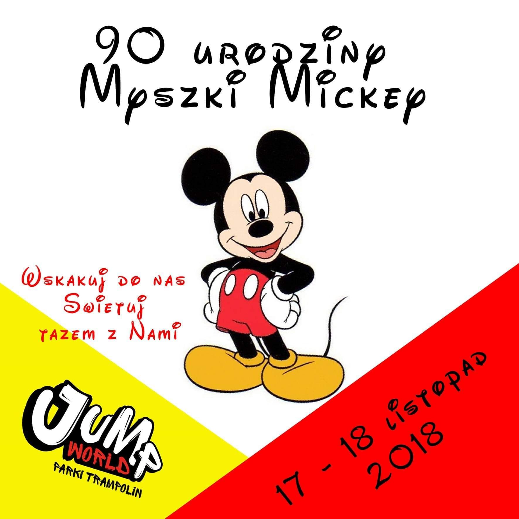 90 urodziny Myszki Mickey w JumpWorld Tarnowskie Góry